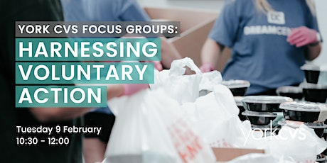 York CVS Focus Group: Harnessing Voluntary Action tickets