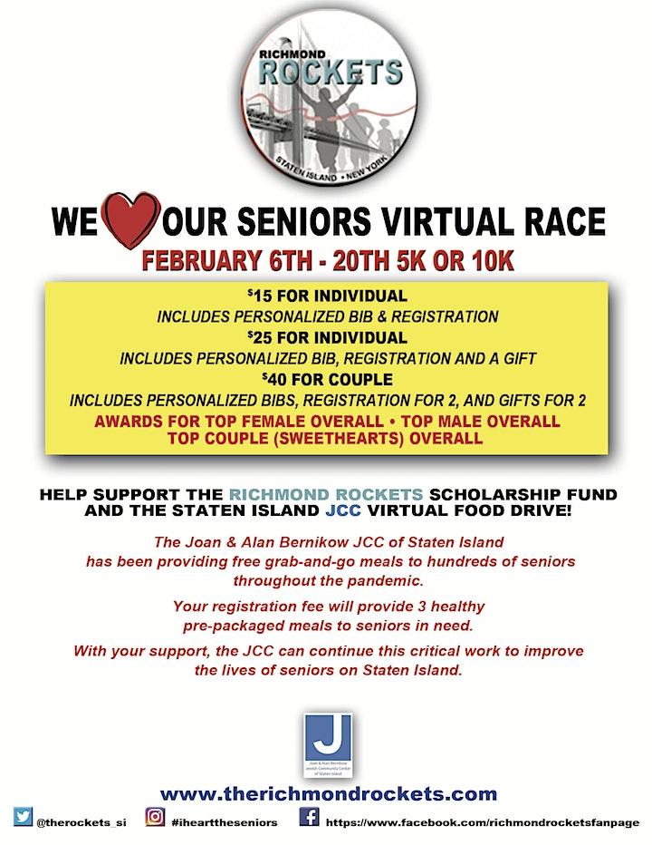 The Richmond Rockets & JCC Presents: We Heart Our Seniors Virtual Race! image