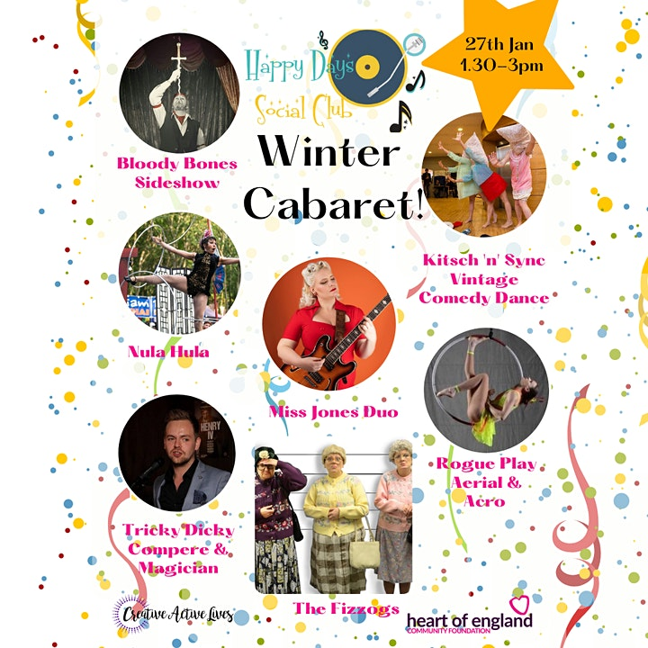 Over 55's Happy Days Social Club Winter Cabaret image
