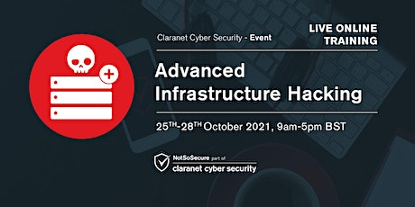 Advanced Infrastructure Hacking - Live Online Training tickets