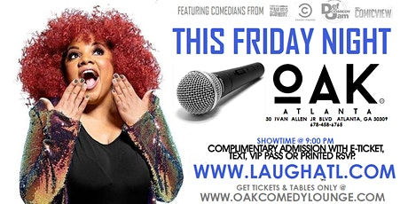 Live Stand Up Comedy @ Oak Atlanta tickets
