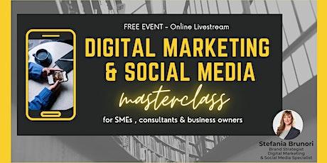 Digital Marketing & Social Media Masterclass tickets