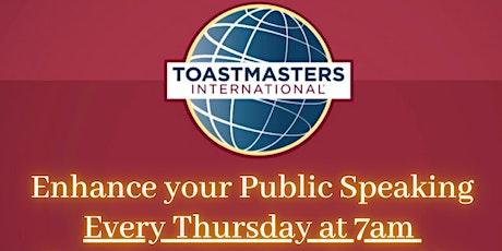 Steele Creek Toastmasters tickets