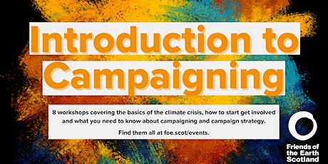 Introduction to Campaigning: First steps tickets