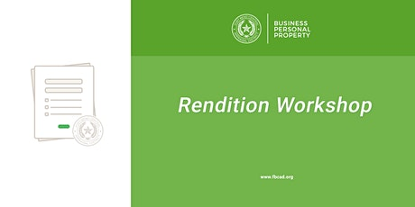 2021 Business Personal Property Rendition Workshop tickets