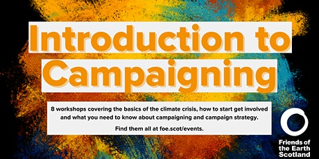 Introduction to Campaigning: Developing a strategy tickets