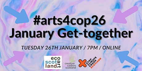 #arts4cop26 January Get-together tickets