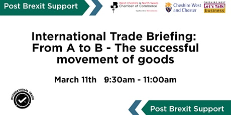 International Trade Workshop: From A to B–The successful movement of goods tickets