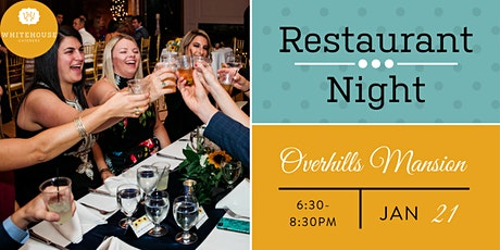 Whitehouse Caterers' January Restaurant Night at Overhills Mansion tickets