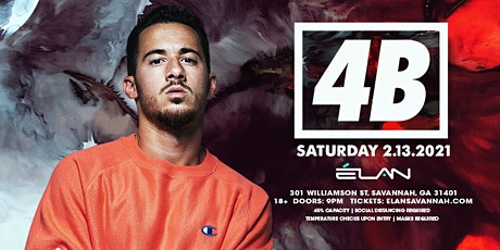 4B at Elan Savannah (Sat, Feb 13th) tickets