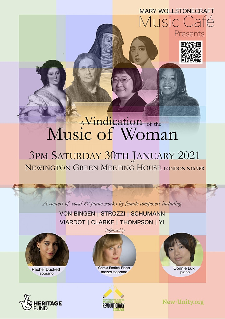 """MW Music Café presents """"A Vindication of the Music of Woman"""" image"""