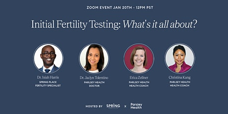 Initial Fertility Testing: What's It All About? tickets