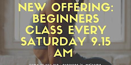Weekend beginners yoga flow tickets