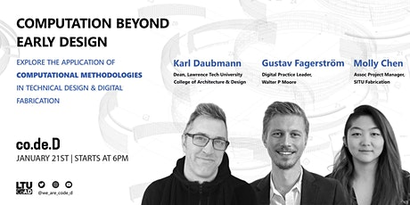 co.de.D | Computation Beyond Early Design tickets