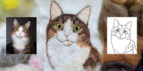 Pet Portrait Needle Felt Painting Class Online tickets