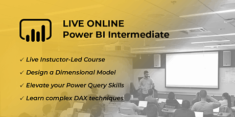 Intermediate Power BI, Data Modeling and DAX | Virtual 2 Day tickets