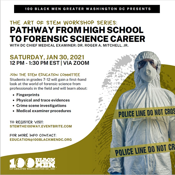 100 Black Men of Greater Washington DC Chapter; Forensic Science Workshop image