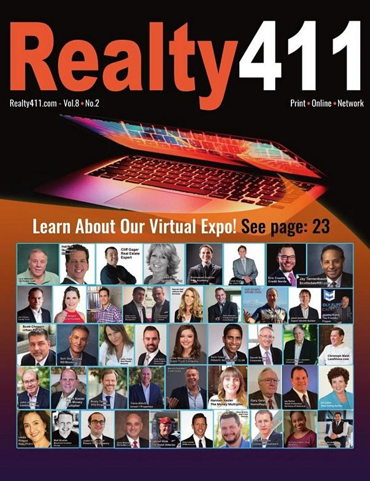 Realty411's VIRTUAL Weekend Investor Expo - JOIN US AND START 2021 RIGHT! image