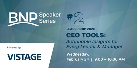 Speaker Series:  CEO Tools: Actionable Insights For Every Leader and Mgr. tickets
