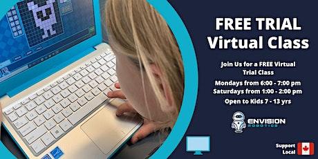 Envision Robotics - VIRTUAL FREE TRIAL STEM Class tickets