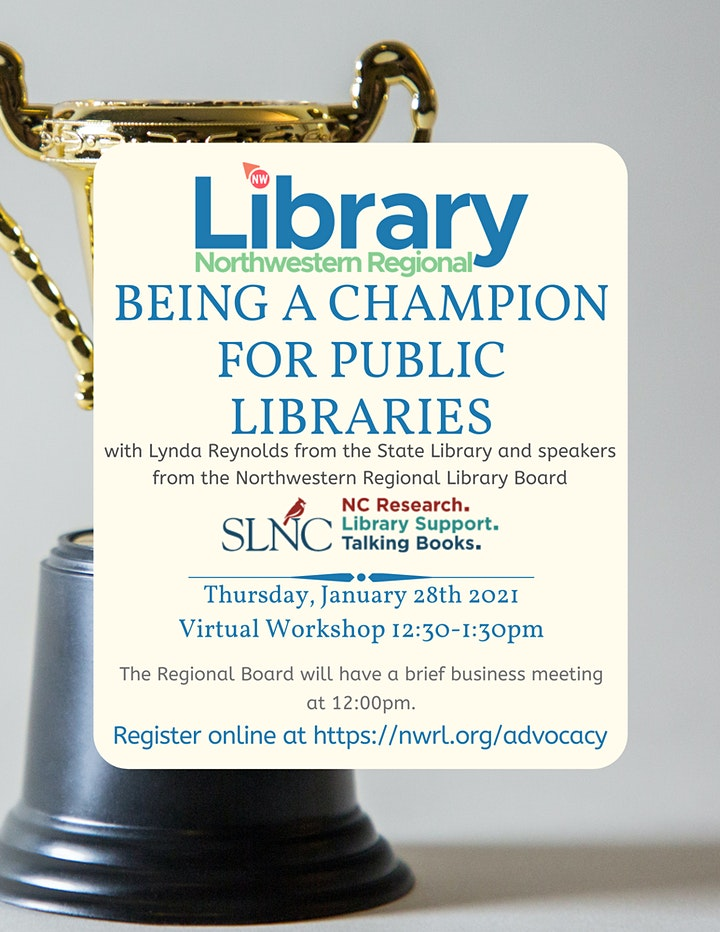Being a Champion for Public Libraries image