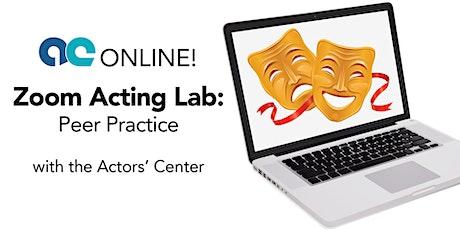 Zoom Acting Lab: Peer Practice tickets