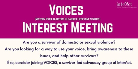 VOICES Interest Meeting tickets