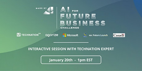 Interactive session w/ TechNation expert - AI for Future Business Challenge tickets