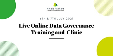 Getting Started in Data Governance - July 2021 tickets