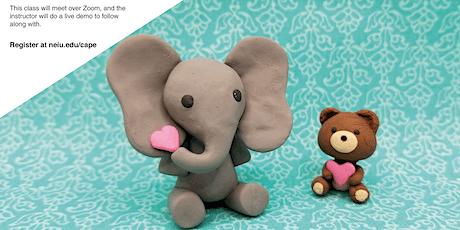 Polymer Clay: Valentine's Day Elephant & Bear - Online tickets