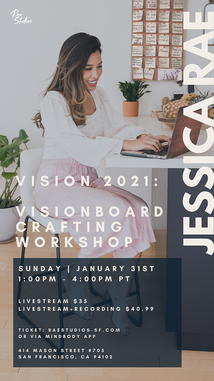 2021 Goal Setting + Vision Board Workshop with Jessica Rae image