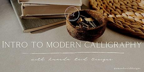 Intro to Modern Calligraphy Workshop with Amanda Reid Designs tickets