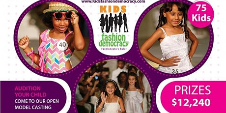 Fashion Week NY Virtual Audition Kids  9-15 yrs tickets