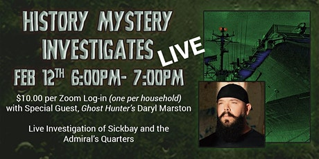 USS Hornet History Mystery Investigates LIVE-  with Host Daryl Marston tickets