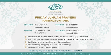Friday (Jumma) Prayers at Harrington Park Community Center, NSW 2567 tickets