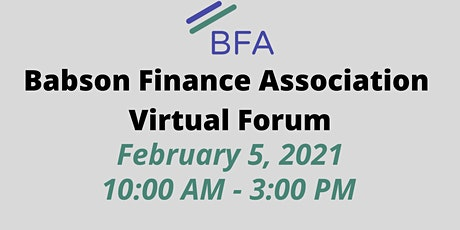 Babson Finance Association Virtual Forum tickets