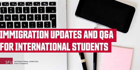 Immigration Updates and Q&A for International Students tickets