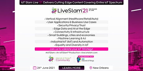 IoT Slam Live 2021 Internet of Things Conference tickets