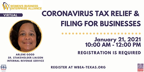 Coronavirus Tax Relief & Filing for Businesses tickets