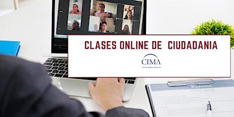 Clases Online de Ciudadanía Febrero 6 & 13 boletos