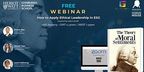 Free webinar: How to apply ethical leadership in ESG tickets