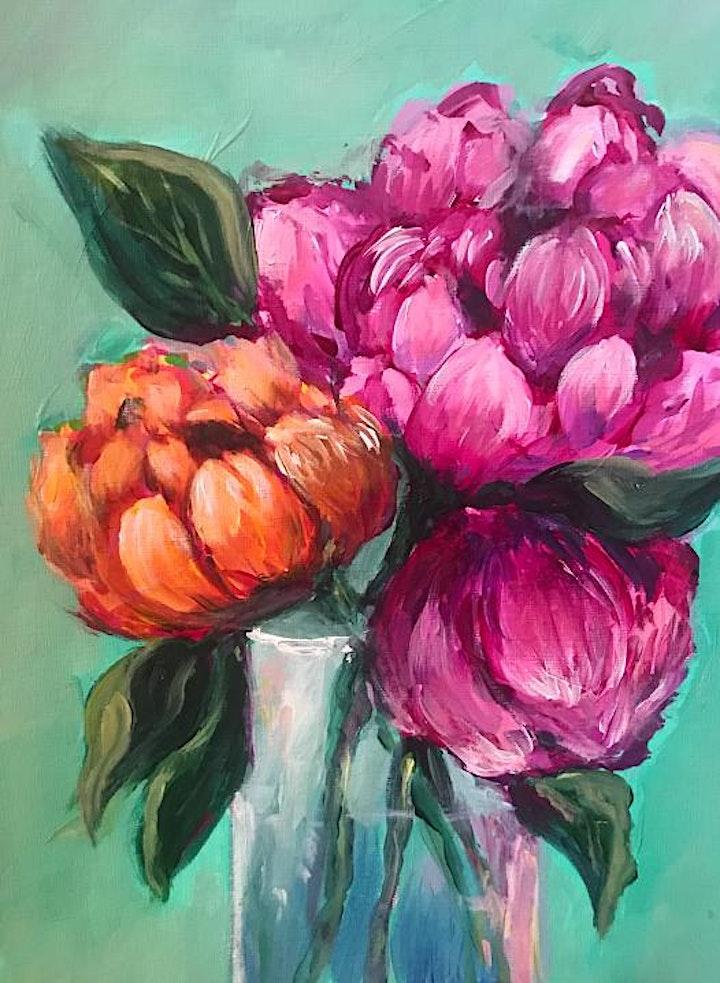 Peonies in a Vase Art Class image