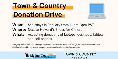 Bridging Tech Donation Drive at Town & Country tickets