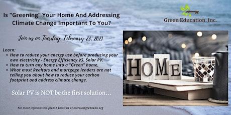 Green Homes Workshop tickets