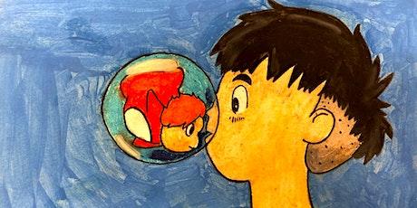 60min Anime Art Lesson - Ponyo & Koichi @5PM  (Ages 6+) tickets