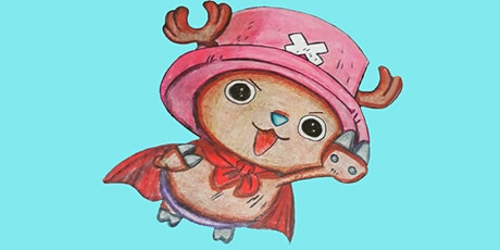 60min Anime Art Lesson - Tony Tony Chopper @5PM  (Ages 6+) tickets