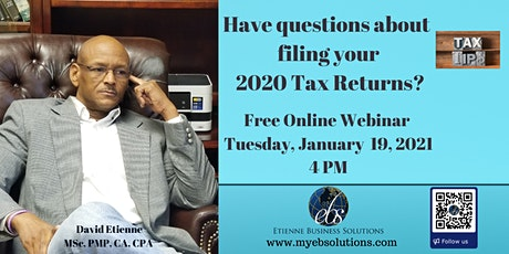 BE INFORMED: 2020 TAX RETURNS tickets