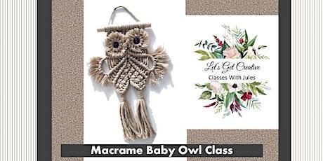 Macrame Baby Owl Class tickets