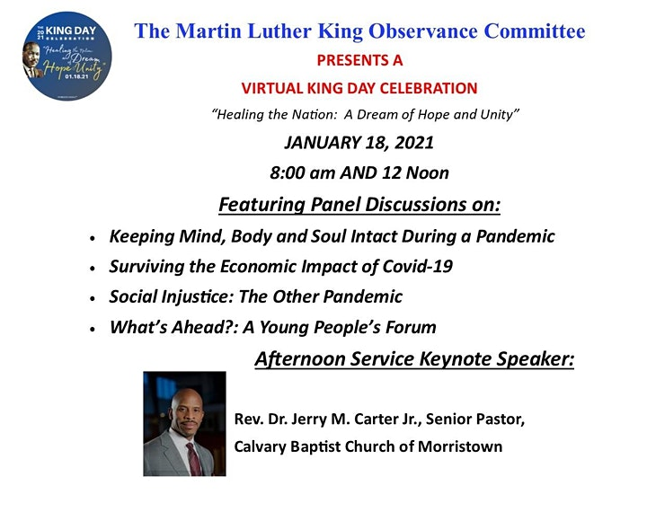 MLK Observance Committee 2021 King Day Celebration image