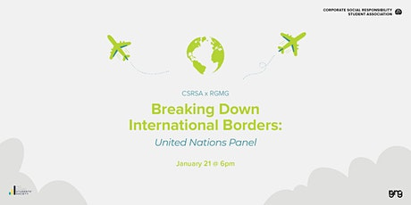 Breaking Down International Borders: United Nations Panel tickets